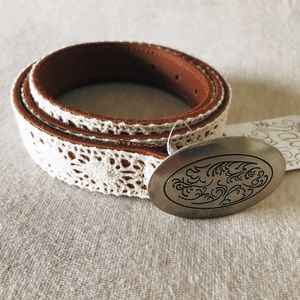 Free people lace vintage belt